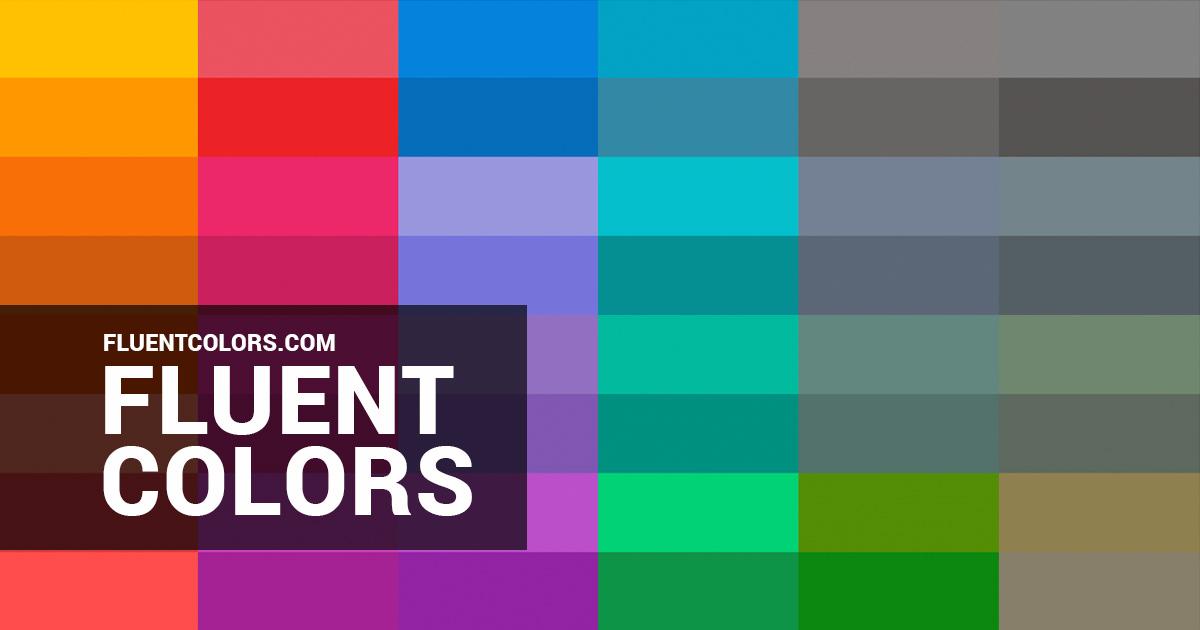 fluent colors microsoft s fluent colors color palette